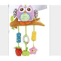 Cot Toys Purpurrotes Eulen-Puppen-Pram Toy mit mehrfarbigem hängendem Spielzeug-pädagogischen Spielwaren preisvergleich bei kleinkindspielzeugpreise.eu