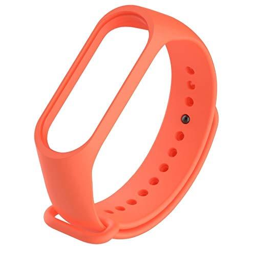 Happy Event Gurt Kompatibel für Xiao Mi Band 4, Soft-TPE-Silikon mit Displayschutzfolie Einstellbare Ersatzgurte Fitness-Armband
