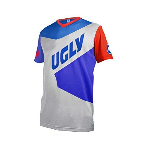 Uglyfrog MT30 Herren Sommer Kurzarm V-Kragen Motorsport Motorrad Moto Cycling Racing Racer T-Shirt