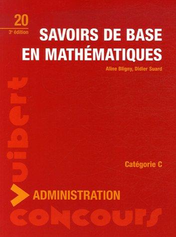 Savoirs de base en mathématiques : Catégorie C