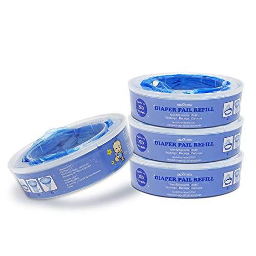 Signstek – Pañales para pañales Angelcare Para depósito de pañales Angelcare azul Pack of 4
