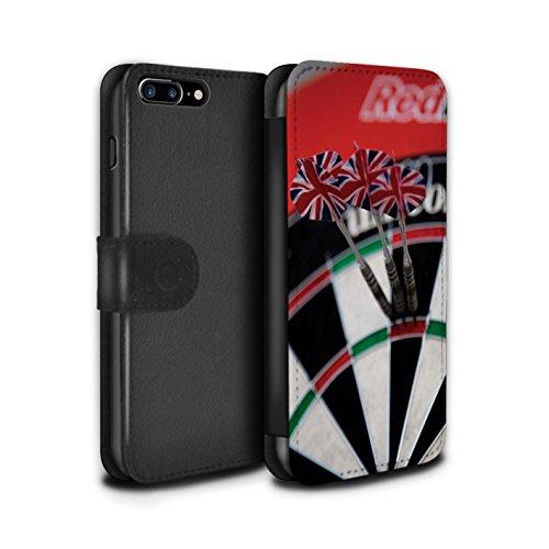 Stuff4 Coque/Etui/Housse Cuir PU Case/Cover pour Apple iPhone 8 Plus / Tripler bullseye Design / Fléchettes Photo Collection Aiguë 20/180
