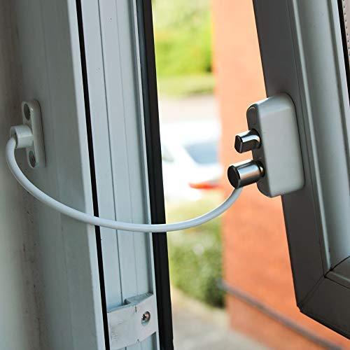 Cardea Pro Push & Turn Lock Kindersicherung Kabel Fensteröffnungsbegrenzer Schloss uPVC geeignet - Weiß, weiß Turn-stopper