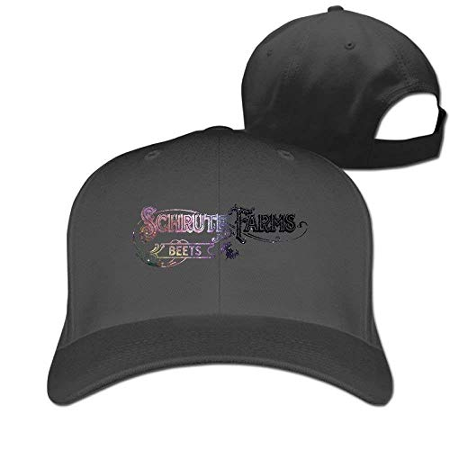 Wfispiy Baseballmützen Schrute Farms Beets Golf Dad Hat Adult Vintage Snapbacks Cap Black RF6528