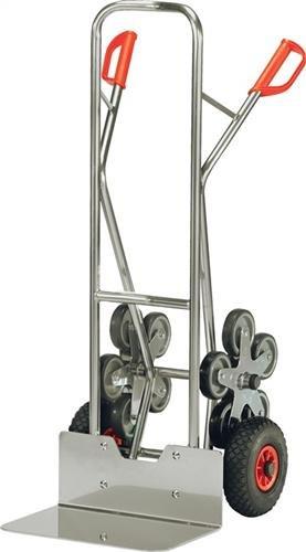 Fetra Alurohr-Treppenkarre, Traglast 200 kg, Schaufel mit Luftbereifung, 2 Fünfarmigen Radsternen, 1 Stück, 1300 x 590 mm, alu, AK1328