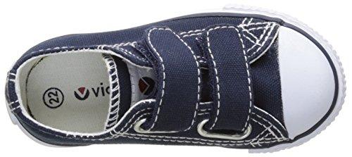 victoria Unisex Baby Zapato Basket Velcros Krabbelschuhe Blau (Marino)