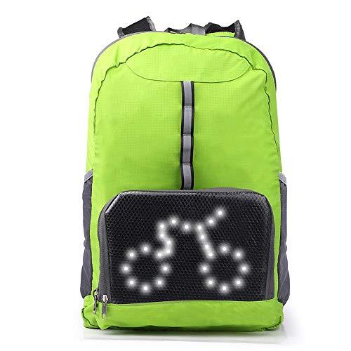 Fancylande LED Blinker Licht Reflektierende Weste Rucksack Für Outdoor Camping Wandern Radfahren Handliche Reisetasche Daypack LED Drahtlose Fernbedienung Sicherheit Blinker Licht Rucksack