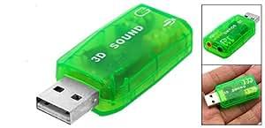 Adaptateur Carte Son EXTERNE 5.1 et Virtuel - USB 2.0 - 3D Stéréo