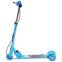 Madink Blue Scooter For Kids With Handbrake & Bell