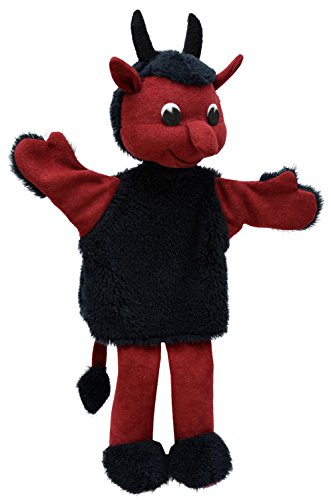 MUBRNO 26221A Teufel Hubert Textilhandpuppe, Mehrfarbig