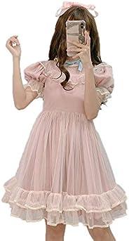 Estate Giapponese Lolita Abito In Pizzo Ragazze Adolescenti Morbido Carino Ruffles A-Line Principessa Abiti Da