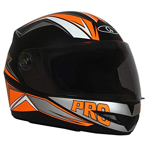 O2 Max Pro P2 Orange Graphic with Tinted Poly Carbonate Visor