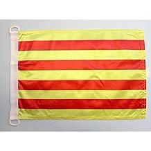 35922d572ca0e AZ FLAG Bandera Nautica de CATALUÑA 45x30cm - Pabellón de conveniencia  CATALANA - Catalunya 30 x