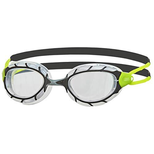 Zoggs Gafas de natación, Adultos Unisex, Negro/Lima/Claro, una una talla