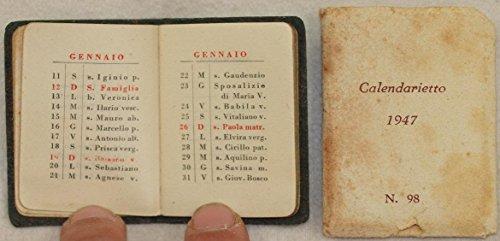 calendarietto 1947 n. 98