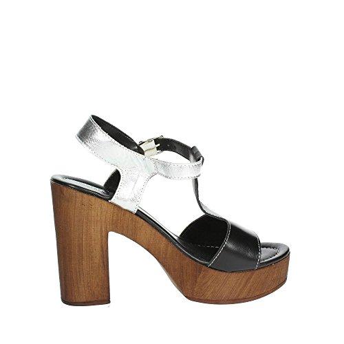Cinzia Soft IAF 2495-20 002 Sandale Femme Noir/Argent