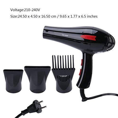 Sèche-cheveux 3000W électrique à faible bruit puissant Triple Diffuseur à peigne pour cheveux