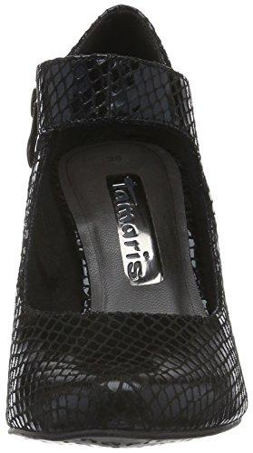 Tamaris 24405, Scarpe con Tacco Donna Nero (BLACK STRUCT. 006)