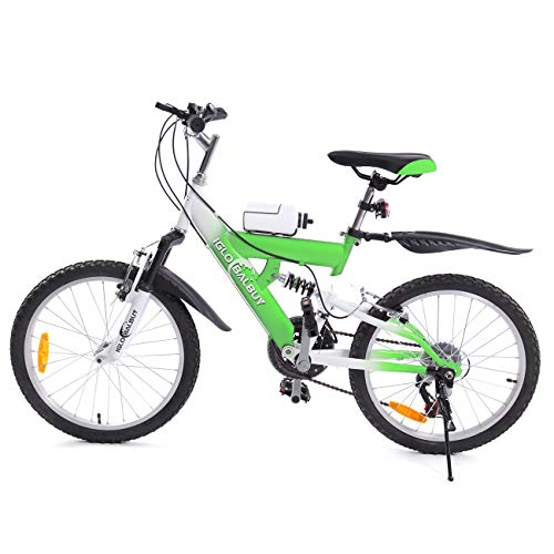 MuGuang Kinder Mountainbike 20 Zoll 6 Vitesses Venez Avec Bouilloire 500cc Pour Les Enfants de 7 à 12 Ans (Grün) (Fahrrad 20)