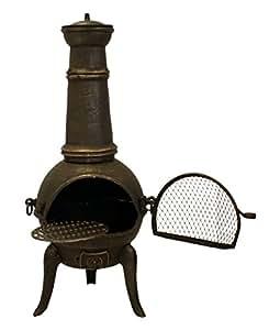 Santa Lucia - 110cm Cast Iron Chimenea (Bronze) - Medium
