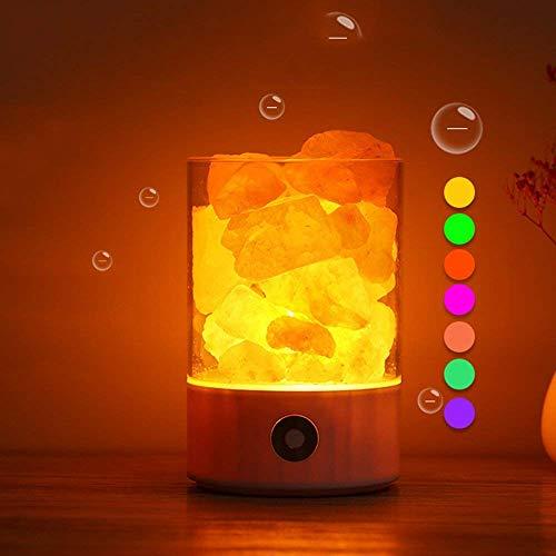 Yhongyang Farbwechsel Nachtlicht LED-Salz Lichter Mit Dimmer-Steuerung, USB-Stecker Für Die Heilung, Gesundheit, Schlaf, Schlafzimmer Büro Dekoration Und Luftreinigung