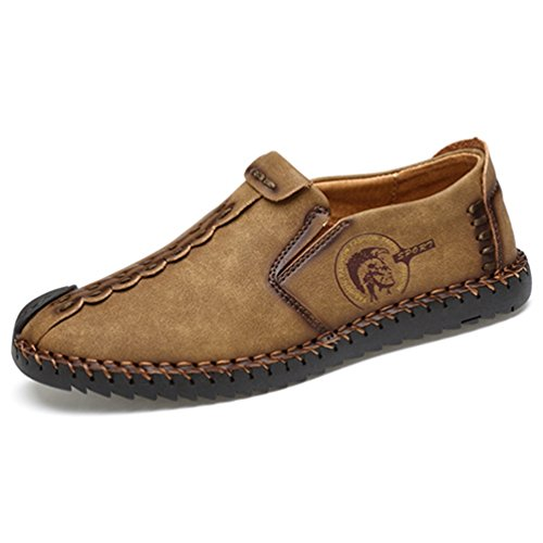 Männer gelegenheitsschuhe Classic Bequeme Loafers Split Lederschuhe Männer Wohnungen -