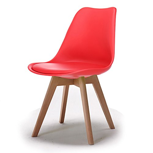QRFDIAN Freizeitstuhl kreativer Esszimmerstuhl Moderner minimalistischer Massivholzstuhl Kunststoff-Coffee-Shop-Stuhl Eukalyptusbein Ledersitzstuhl - Kunststoff-stuhl Moderner