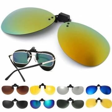 Polarisierte Clip auf Sonnenbrillen Night Vision Driving Brillen Gläser