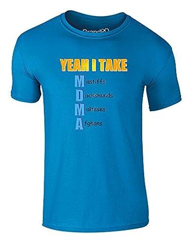 Wholesome Dog Meme, T-shirt Imprimé Pour Adultes - Azur XL = 111-116cm