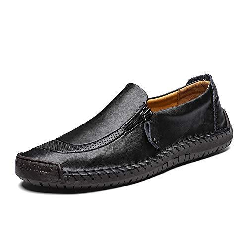 CUSTOME Zapatos Hombre Negocios Planos Mocasines Transpirables