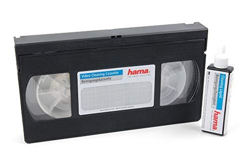 DURAGADGET Cinta de Limpieza VHS/S-VHS. con líquido Especial para Limpiar su Reproductor de vídeo.
