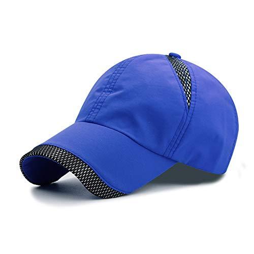 sdssup Baseball Cap Visier Sonnenschutz Sonnenhut Damenfarbe blau - Hut hat Netzseite verstellbar 56-60cm -