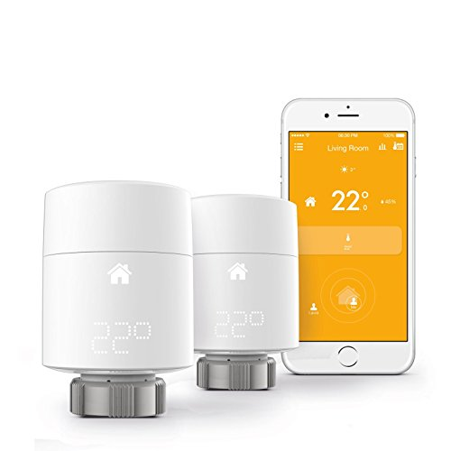 TADO  Smart Radiator Thermostat Starter Kit (v3) - vertical mounting - intelligent heating control with geofencing via smartphone