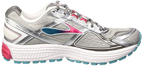 Brooks Ghost 8 W, Chaussures de Running Compétition Femme Multicolore - mehrfarbig (Metallic Charcoal/Bright Rose/Blue Bird)