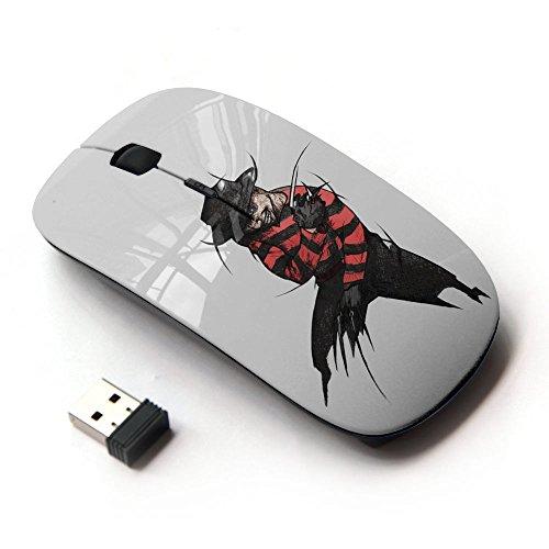 KawaiiMouse [ Mouse Senza Fili Ottico 2.4G ] Krueger Elm Street