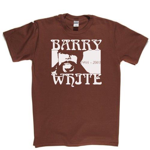 Barry White Soul Love Song Legend T-shirt Braun