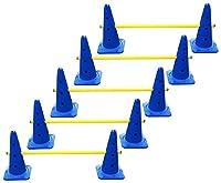 agility sport pour chiens - lot de 5 haies de coordination - 40 cm, jaune-bleu - 10x MZK40b 5x 100y