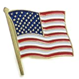 American Flag BASE METAL Lapel Pin x 1 Brooches Brooch Pins CF1951