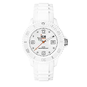 Ice-Watch - Ice Forever White - Montre Blanche pour Femme avec Bracelet en Silicone - 000124 (Small)