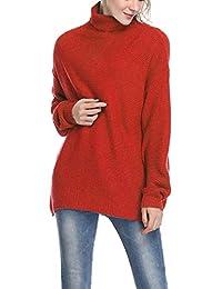 9ba3ee89be48c2 Fellissy Damen Sweatshirt Rollkragenpullover Winterpullover Strickpulli Langarmshirt  Pullover Grobstrick Strickpullover Sweatshirtjacke Oversized Outwear ...