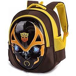 Bumblebee Transformers Captain America Sac à Dos Scolaire Pour Enfants Sac à Dos Pour Garçons Et Filles Sacs D'École,Bumblebee-30 * 26 * 12cm