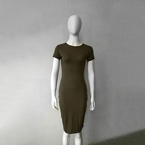 Robe Femme, Oyedens Femmes Manche courte Moulante Robe Vert