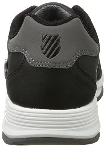 K-Swiss Berlo II S, Sneakers Basses Homme Noir (Black/charcoal)