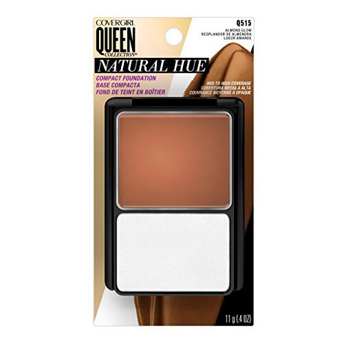 Covergirl Queen Collection (CoverGirl Queen Collection Natural Hue Compact Foundation, Almond Glow 515, 0.4 Ounce Compact by COVERGIRL)