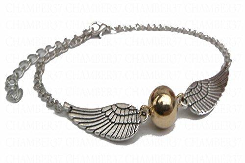 TriNiTy plateado de alas soplón dorada pequeña con globo
