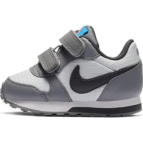 Nike Jungen Md Runner 2 (TDV) Leichtathletikschuhe, Mehrfarbig (Pure Platinum/Anthracite/Cool Grey 015), 25 EU (Jordan Nike Kinder-schuhe-jungen)