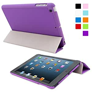 Snugg iPad Mini 1 / 2/ 3 Ultra Thin Smart Case in Purple - Flip Stand Cover with Auto Wake and Sleep for Apple iPad Mini, iPad Mini 2 and iPad Mini 3