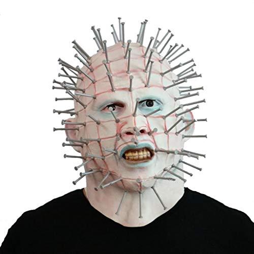 QMMD Halloween Masken Scary - Herren Monster Masken - Horror Latex Maske - Pinhead Maske - für Halloween Kostümzubehör (Herren Pinhead Kostüm)