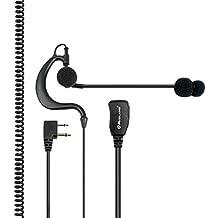 Midland ABM - Auriculares tácticos con micrófono y PTT para corbata