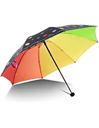 ZfgG Paraguas Ultraligero Crepuscular, Paraguas Solar Plegable para Estudiantes Paraguas Universo Accesorios de Viaje